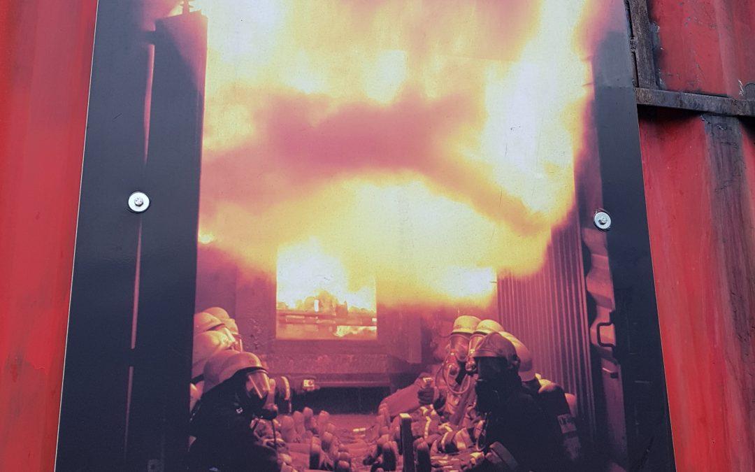 Heißausbildung Firefighting in Mieders (Liftparkplatz)
